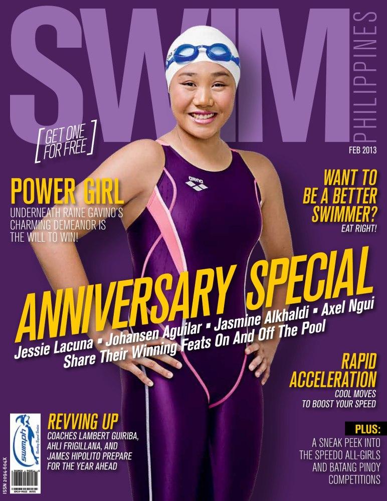 CAL swimmer Raine Gavino on the covers of Swim Philippines